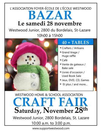 westwood craft fair